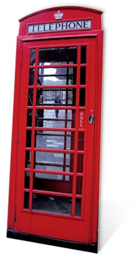 Phone Box Cardboard Cutout
