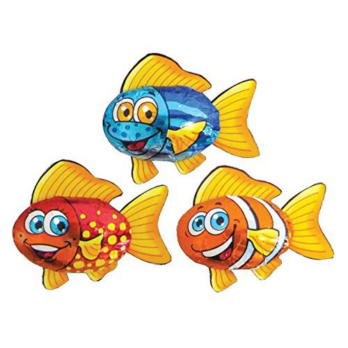 Tropical Fish Chocolate - Assorted Designs - 6.2g - Each