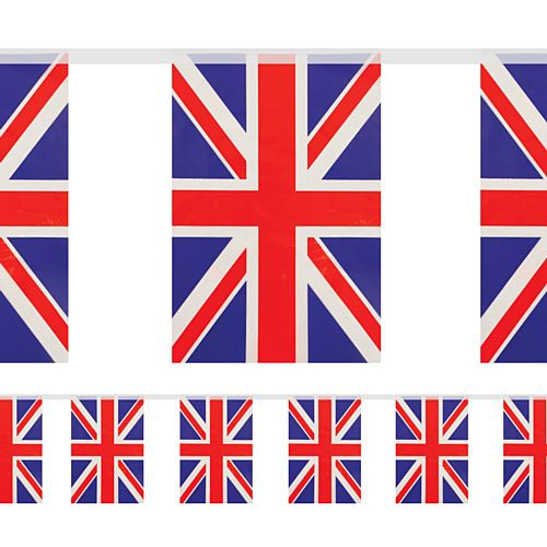 British Union Jack PVC Flag Bunting - 10m