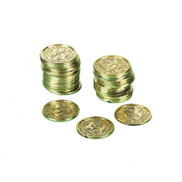 Pirates Treasure Gold Coins - Pack of 70
