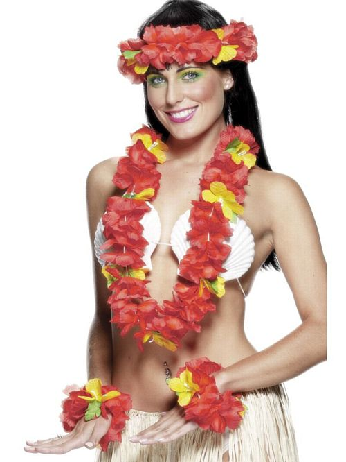 Hawaiian 4 Piece Set - Red