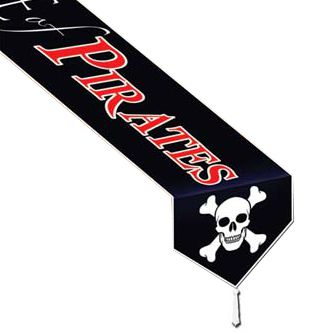 Beware of Pirates Paper Table Runner - 1.83m