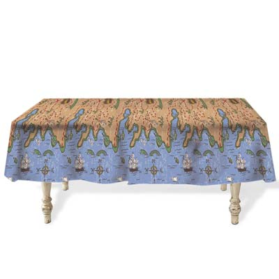 Treasure Map Plastic Tablecloth - 2.74m