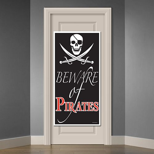 Beware of Pirates Door Cover - 1.52m