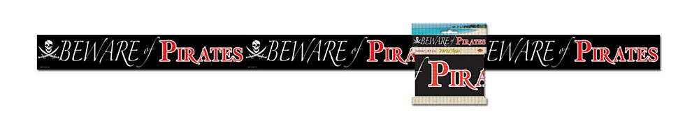 Beware of Pirates Party Tape - 6.1m
