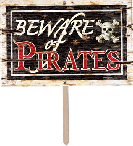 Click to view product details and reviews for Beware Of Pirates 3 D Yard Sign 457cm.