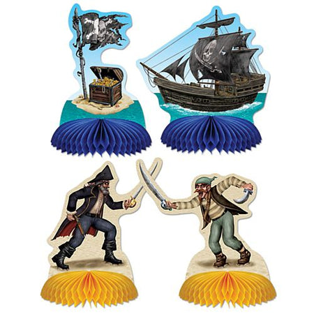Pirate Playmates Table Centrepieces Assorted Designs 127cm Pack Of 4
