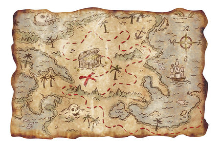Plastic Treasure Map - 45.7cm