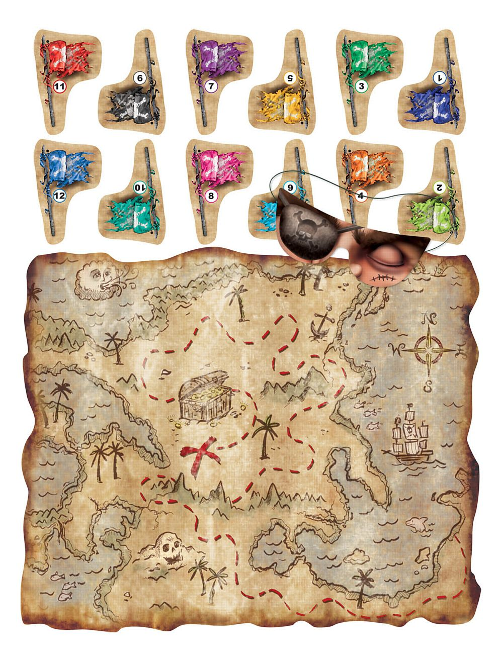 Treasure Map Pirate Party Game