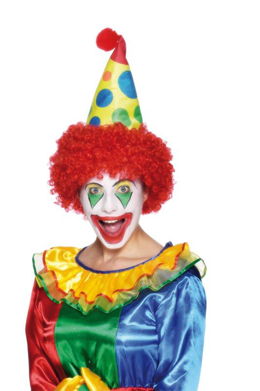 Clown Hat with Red Hair