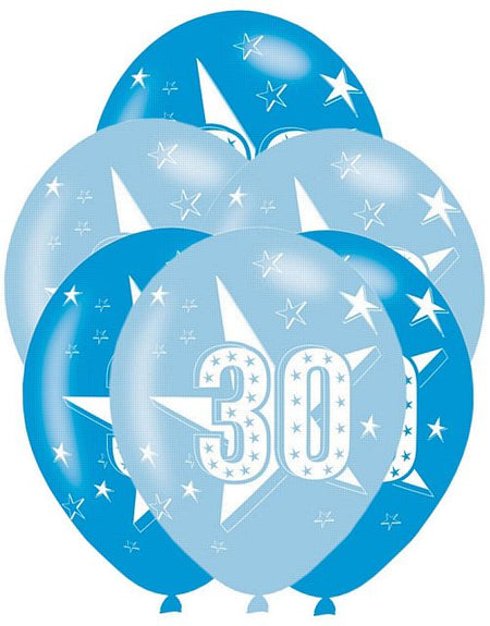 Click to view product details and reviews for 30th Birthday Blue Latex Balloons 11 Assorted Pack Of 6.