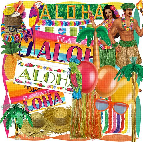 Standard Tropical Party Decoration Pack
