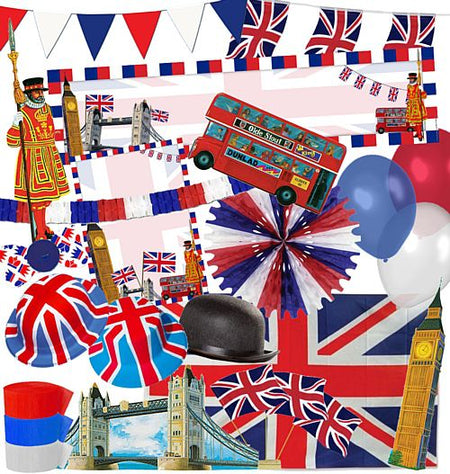 Standard British Patriotic Party Decoration Pack