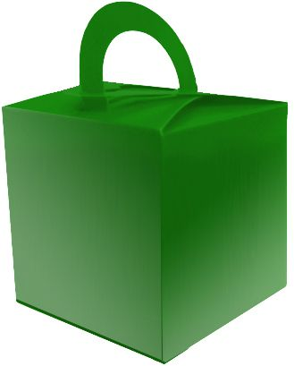 Metallic Green Favour Box - 6.5cm - Each