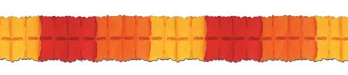 Red/Orange/Yellow Tissue Paper Garland - 4m