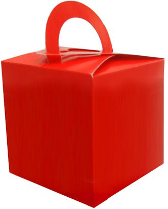 Red Favour Box - 6.5cm - Each