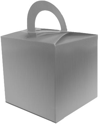 Silver Favour Box - 6.5cm - Each