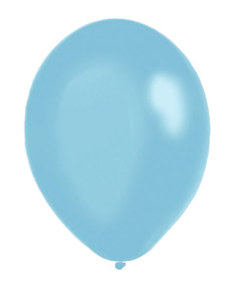 "Pale Blue Metallic Latex Balloons - 12"" - Pack of 50"