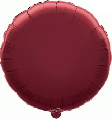 Burgundy Round Foil Balloon - 18""