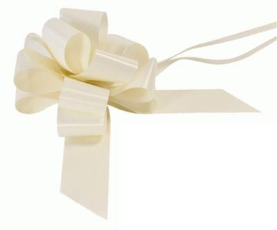 Ivory 12 Loop Pull Bow - 16.5cm - Each