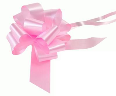 Pale Pink 12 Loop Pull Bow - 16.5cm - Each