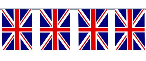 British Union Jack Cloth Flag Bunting 6m