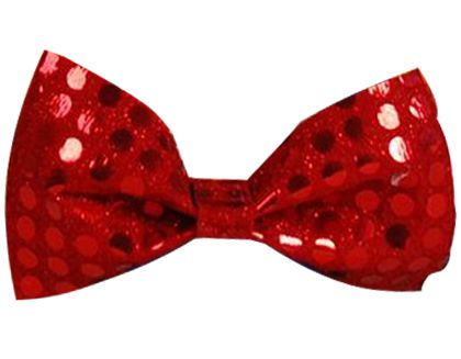 Red Sequin Bow Tie