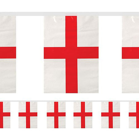 England St George PVC Bunting - 4m - 11 Flags