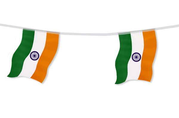 Indian Flag Bunting 2.4m