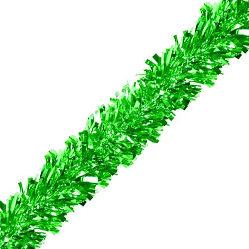 Green Luxury Tinsel Garland - 6 Ply - 4.6m