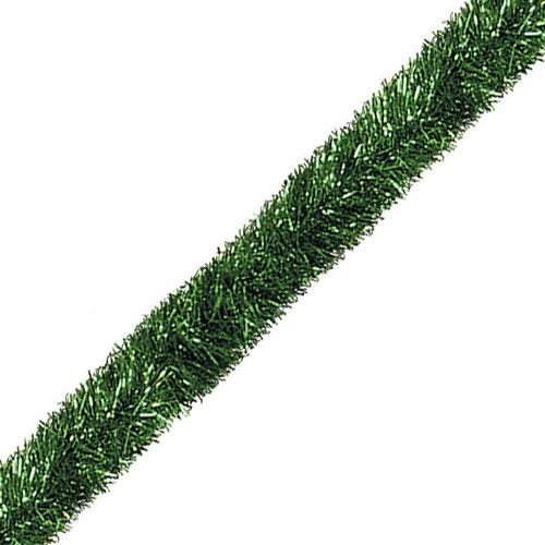 Green Extra Long Tinsel Garland - 30m