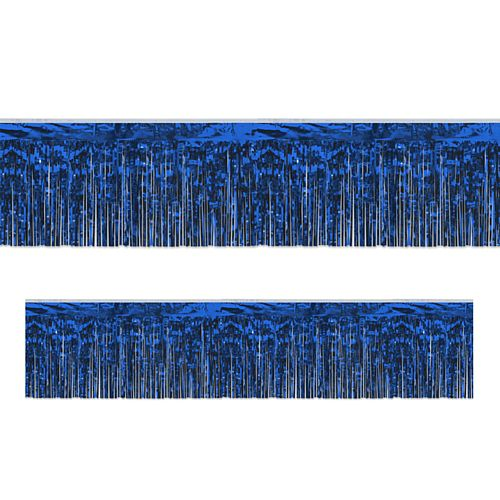 Blue Metallic Fringed Garland - 3m