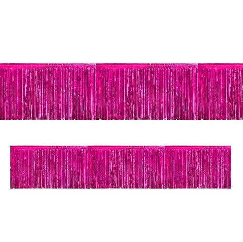 Hot Pink Metallic Fringed Garland - 3m