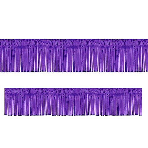 Purple Metallic Fringed Garland - 3m