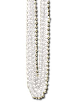 White Party Beads - Pack of 12