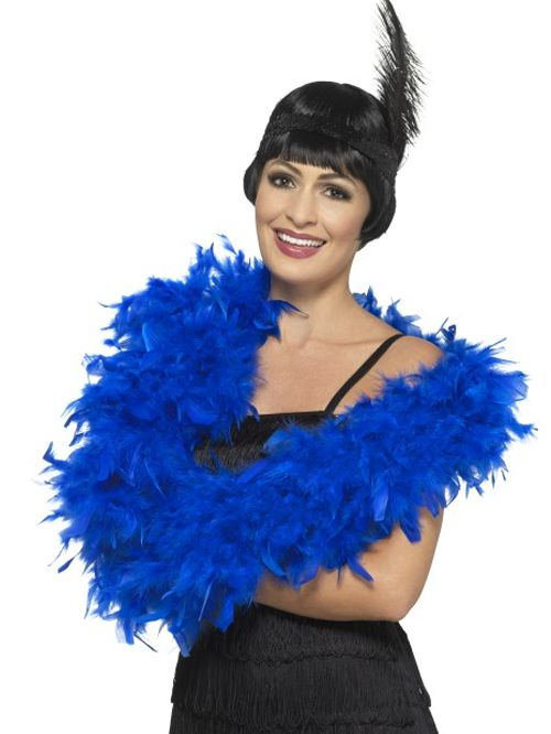 Royal Blue Feather Boa