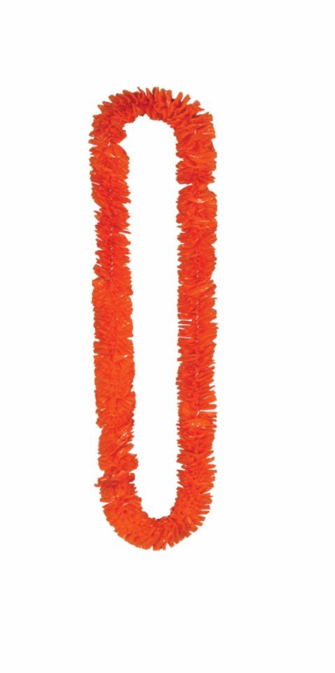 Orange Hawaiian Lei- 36inch