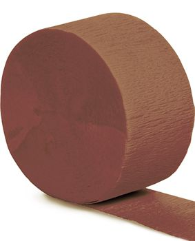 Brown Crepe Paper Streamer - 25m
