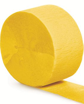 Yellow Crepe Paper Streamer - 25m