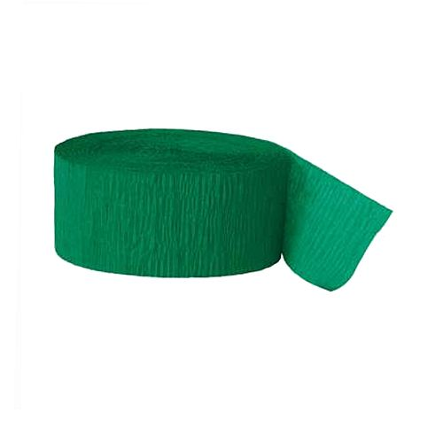 Emerald Green Crepe Paper Streamer - 25m