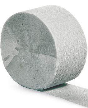 Grey Crepe Paper Streamer - 25m