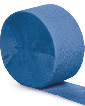 Royal Blue Crepe Paper Streamer - 25m