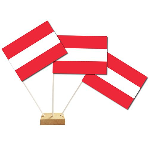 "Austrian Table Flags 6"" on 10"" Pole"