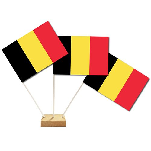 "Belgium Table Flags 6"" on 10"" Pole"