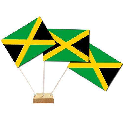 Jamaican Paper Table Flags 15cm on 30cm Pole
