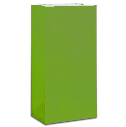 Lime Green Party Bags - Pack of 12