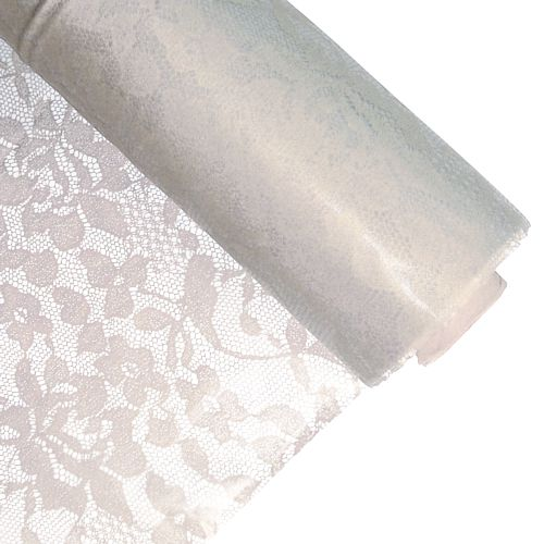 White Lace Table Roll - 30.5m x 1m