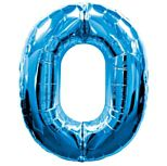 Blue Number 0 Foil Balloon  - 35""