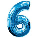 Blue Number 6 Foil Balloon - 35""