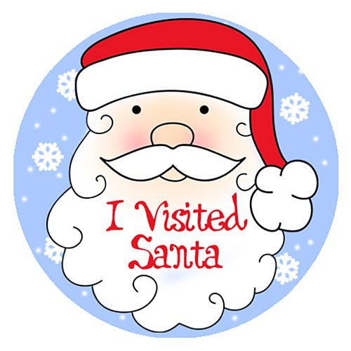 I Visited Santa Stickers - Each